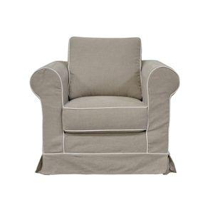 Fauteuil en coton gris clair - Crowson