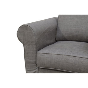 Fauteuil en tissu gris - Crowson - Visuel n°6