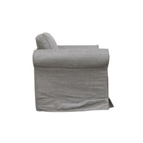 Fauteuil en tissu gris - Crowson - Visuel n°3