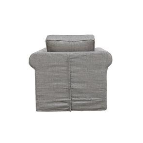 Fauteuil en tissu gris - Crowson - Visuel n°4