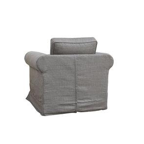 Fauteuil en tissu gris - Crowson - Visuel n°5