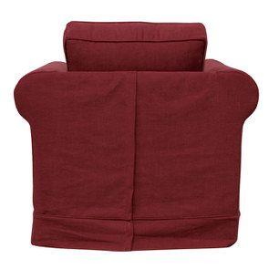 Fauteuil en tissu bordeaux  - Crowson - Visuel n°5