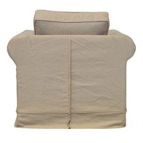 Fauteuil en coton beige - Crowson - Visuel n°5