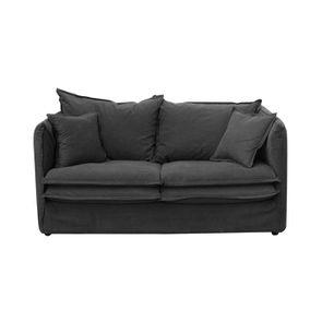 Canapé 3 places en tissu gris anthracite - Hampton
