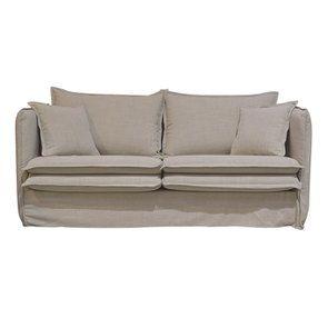 Canapé 3 places en tissu écru - Hampton - Visuel n°1