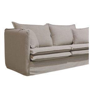 Canapé 3 places en tissu écru - Hampton - Visuel n°3