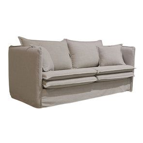 Canapé 3 places en tissu écru - Hampton - Visuel n°4