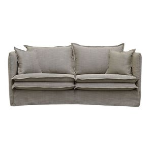 Canapé 3 places en tissu ficelle - Hampton
