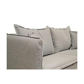 Canapé 3 places gris clair en tissu - Hampton - Visuel n°2