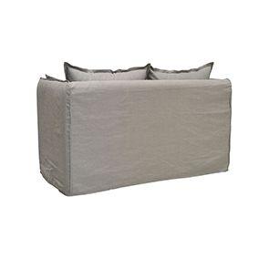 Canapé 3 places gris clair en tissu - Hampton - Visuel n°5