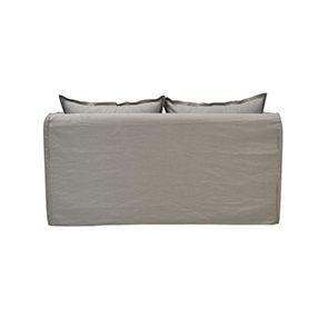 Canapé 3 places gris clair en tissu - Hampton - Visuel n°6