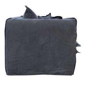 Canapé 3 places convertible en tissu noir - Hampton - Visuel n°7