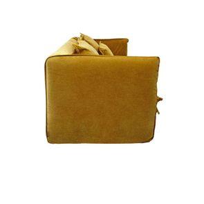 Canapé 4 places en tissu jaune moutarde - Hampton - Visuel n°8