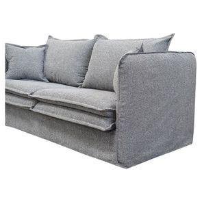 Canapé 4 places en tissu gris - Hampton - Visuel n°6