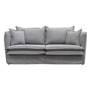 Canapé 4 places en tissu gris - Hampton - Visuel n°1