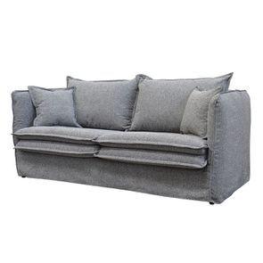 Canapé 4 places en tissu gris - Hampton - Visuel n°2