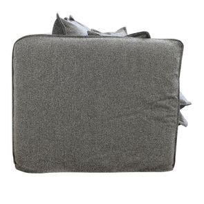 Canapé 4 places en tissu gris - Hampton - Visuel n°5