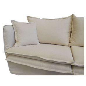 Canapé 4 places en tissu beige - Hampton - Visuel n°6