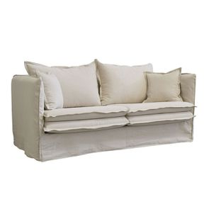 Canapé 4 places en tissu beige - Hampton - Visuel n°2