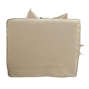 Canapé 4 places en tissu beige - Hampton - Visuel n°5