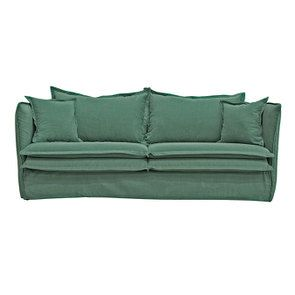 Canapé 4 places en tissu vert - Hampton - Visuel n°1