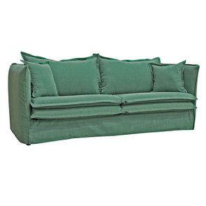 Canapé 4 places en tissu vert - Hampton - Visuel n°2