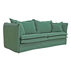 Canapé 4 places en tissu vert - Hampton - Visuel n°3