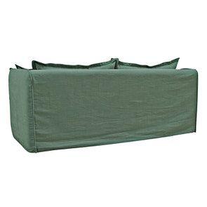 Canapé 4 places en tissu vert - Hampton - Visuel n°4