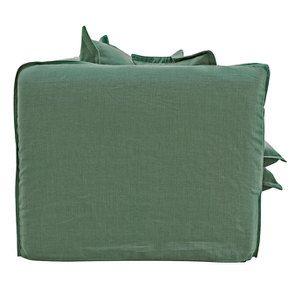 Canapé 4 places en tissu vert - Hampton - Visuel n°6
