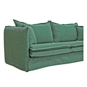 Canapé 4 places en tissu vert - Hampton - Visuel n°7