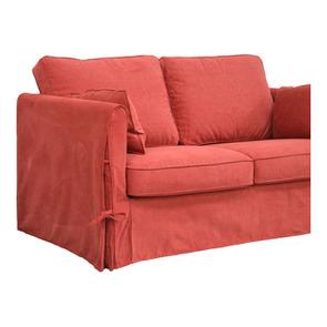 Canapé 2 places en tissu rouge - Welsh - Visuel n°9