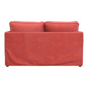 Canapé 2 places en tissu rouge - Welsh - Visuel n°4