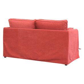 Canapé 2 places en tissu rouge - Welsh - Visuel n°5