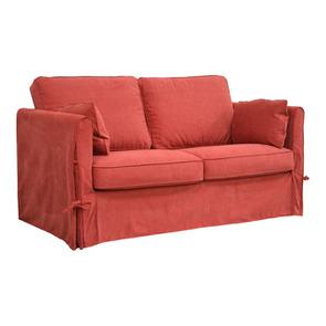 Canapé 2 places en tissu rouge - Welsh - Visuel n°6