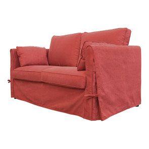 Canapé 2 places en tissu rouge - Welsh - Visuel n°7