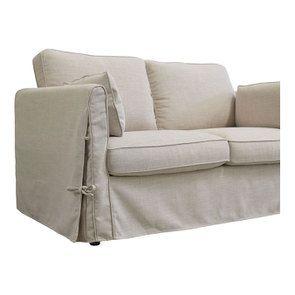 Canapé 2 places en tissu écru - Welsh - Visuel n°6