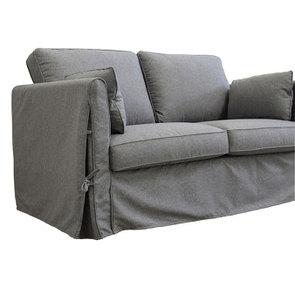 Canapé 2 places en tissu gris anthracite - Welsh - Visuel n°8