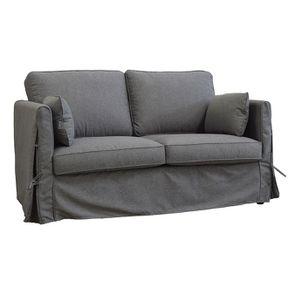 Canapé 2 places en tissu gris anthracite - Welsh - Visuel n°2