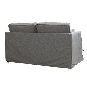 Canapé 2 places en tissu gris anthracite - Welsh - Visuel n°6
