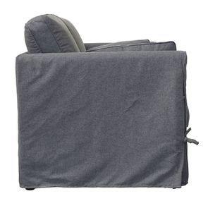 Canapé 2 places en tissu gris anthracite - Welsh - Visuel n°3