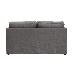 Canapé 2 places en tissu gris anthracite - Welsh - Visuel n°4