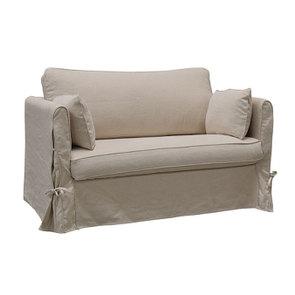 Canapé 2 places en tissu couleur lin beige  - Welsh - Visuel n°2