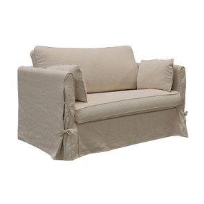 Canapé 2 places en tissu couleur lin beige  - Welsh - Visuel n°3
