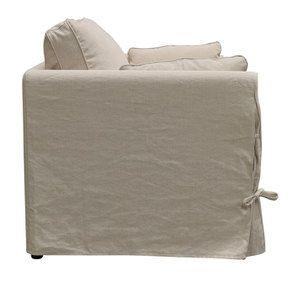 Canapé 2 places en tissu couleur lin beige  - Welsh - Visuel n°4
