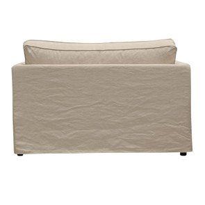 Canapé 2 places en tissu couleur lin beige  - Welsh - Visuel n°5