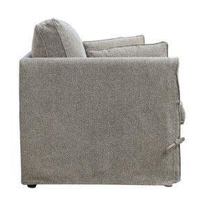Canapé 2 places en tissu gris  - Welsh - Visuel n°8