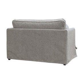 Canapé 2 places en tissu gris  - Welsh - Visuel n°11