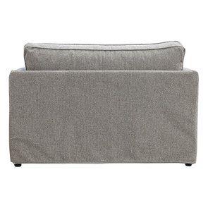 Canapé 2 places en tissu gris  - Welsh - Visuel n°12