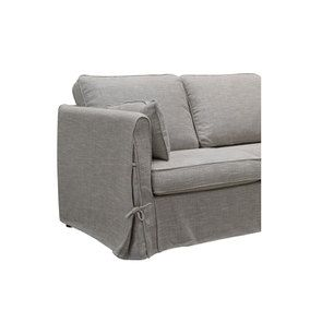 Canapé 2 places en tissu gris losange  - Welsh - Visuel n°8