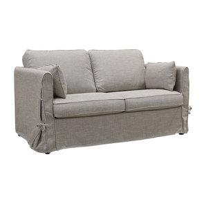 Canapé 2 places en tissu gris losange  - Welsh - Visuel n°2
